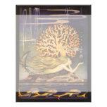 Vintage Fairy Tale, Little Mermaid in Ocean Coral Personalized Letterhead