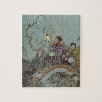 Vintage Fairy Tale, Nightingale by Edmund Dulac Jigsaw Puzzle
