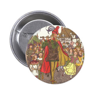 Vintage Fairy Tale Pied Piper of Hamelin by Hauman 2 Inch Round Button