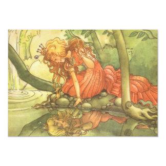 Vintage Fairy Tale Princess Frog Prince Invitation