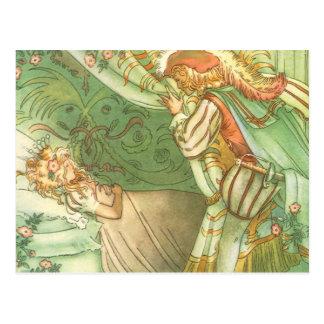 Vintage Fairy Tale, Sleeping Beauty Princess Postcard