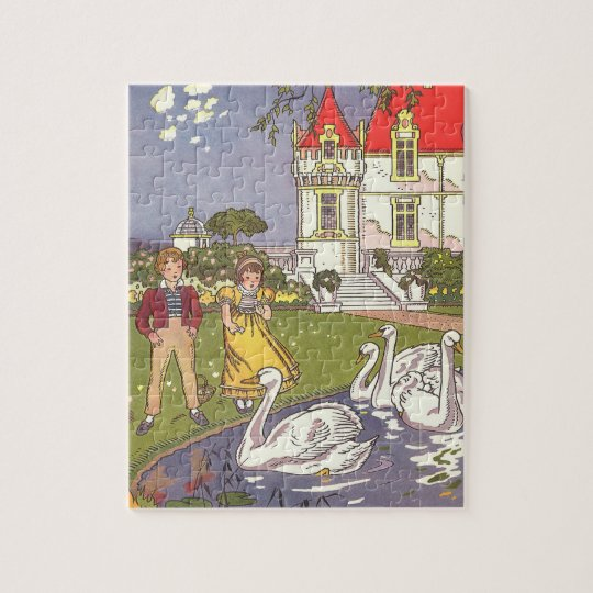 Vintage Fairy Tale, The Ugly Duckling by Hauman Jigsaw Puzzle