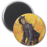 Vintage Fairy Tale, the Wizard of Oz Scarecrow 2 Inch Round Magnet