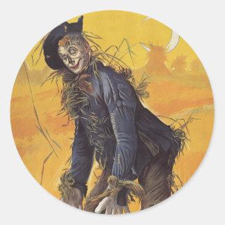 Vintage Fairy Tale, the Wizard of Oz Scarecrow Sticker