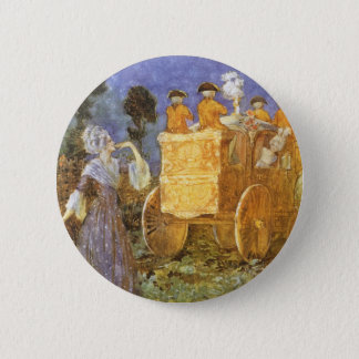 Vintage Fairy Tales Cinderella and Fairy Godmother 2 Inch Round Button