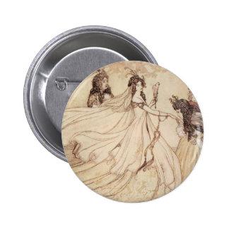 Vintage Fairy Tales, Cinderella by Arthur Rackham 2 Inch Round Button