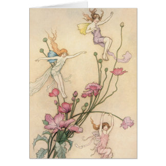Vintage Fairy Tales, Three Spirits Filled With Joy Card