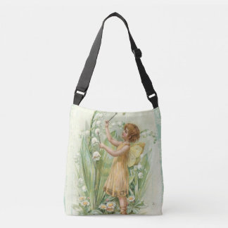 Vintage fairy with lilies tote bag