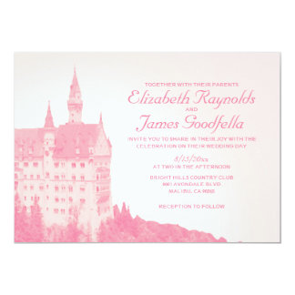 Vintage Fairytale Castle Wedding Invitations