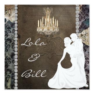 """Vintage Fairytale Wedding  Invitation AUTHENTIC 5.25"""" Square Invitation Card"""
