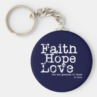 Vintage Faith Hope Love Keychain