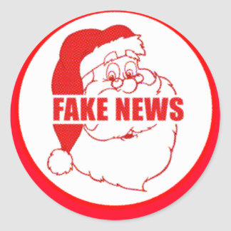 Vintage Fake News Santa Classic Round Sticker