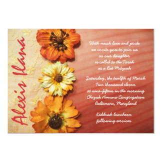 VINTAGE FALL BEAUTY Lacey Bat Mitzvah Invitation
