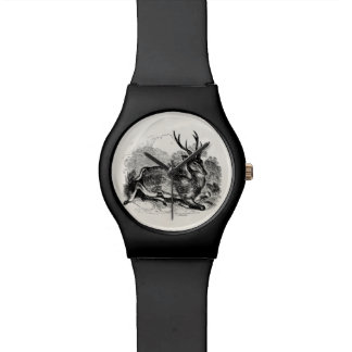 Vintage Fallow Deer Buck Personalized Illustration Watch