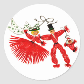 Vintage Family Christmas Sticker