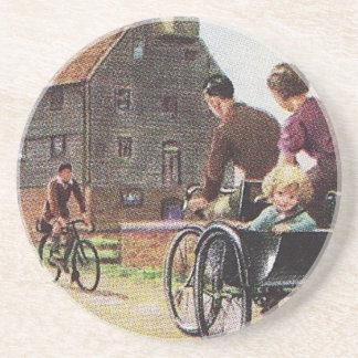 Vintage Family Cycling Coaster