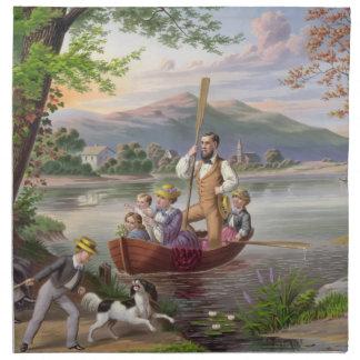 Vintage Family Life Painting Napkin
