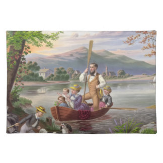 Vintage Family Life Painting Placemat
