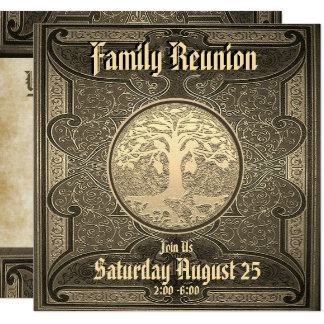Vintage Family Reunion Card