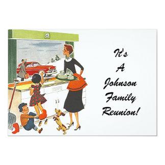 """Vintage Family Reunion Happy Family Invitation 5"""" X 7"""" Invitation Card"""