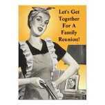 Vintage Family Reunion Happy Homemaker Invitation
