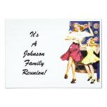 "Vintage Family Reunion Happy Mom Child Invitation 5"" X 7"" Invitation Card"
