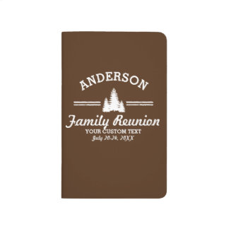 Vintage Family Reunion or Trip | Rustic Pine Trees Journal