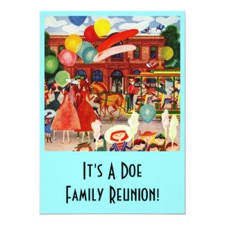 "Vintage Family Reunion Park Celebration Invitation 5"" X 7"" Invitation Card"