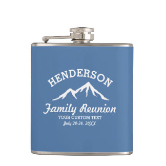 Vintage Family Reunion Trip Cool Mountain Peaks Hip Flask