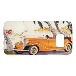 Vintage Family Vacation in a Convertible Car Samsung Galaxy S7 Case