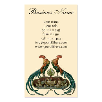 Vintage Farm Animals, Chickens, Roosters and Hens Business Card