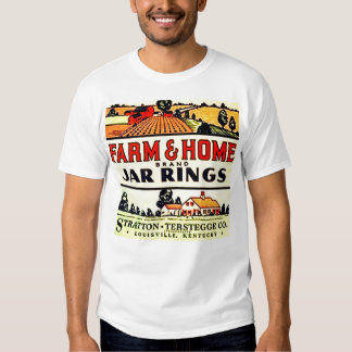 Vintage Farm House Home Fruit Jar Rings Box Label Tshirts