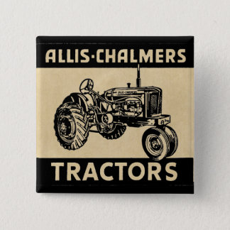 Vintage Farm Tractor 2 Inch Square Button