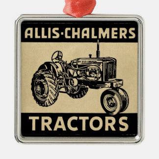 Vintage Farm Tractor Metal Ornament