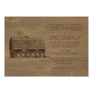 Vintage Farm Wedding Invitations