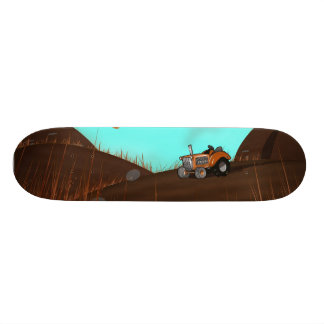 Vintage Farming Tractor Skate Board Deck