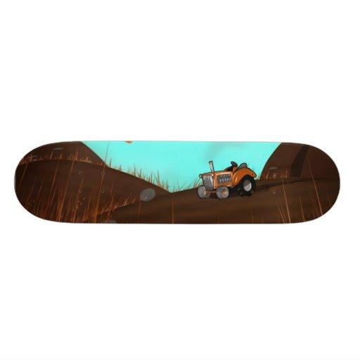 Vintage Farming Tractor Skate Board