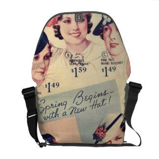 Vintage Fashion 1936 Hat Ad Commuter Bag