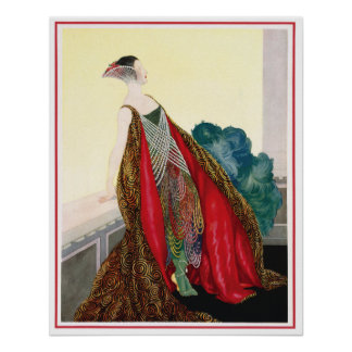 Vintage Fashion Advertising Poster or Print