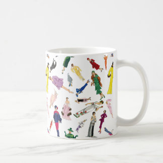 Vintage Fashion Illustration Ladies Coffee Mug