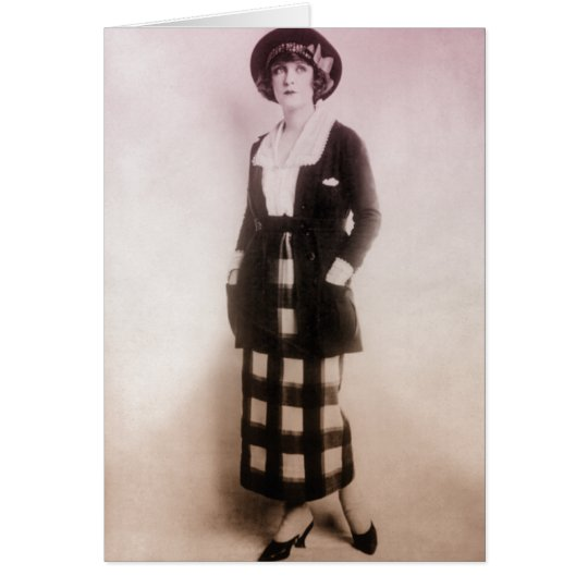Vintage Fashion Portrait Card