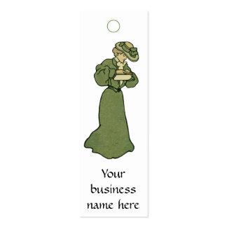 Vintage Fashion Tag or Card Mini Business Card