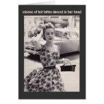 Vintage Fashion with Coffee Humor Birthday Card