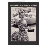 Vintage Fashion with Coffee Humour Birthday Card