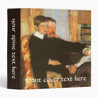 Vintage Father and Son Portrait by Mary Cassatt Vinyl Binder