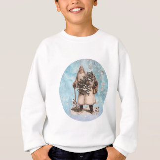 Vintage Father Christmas Santa Snow Falling Sweatshirt