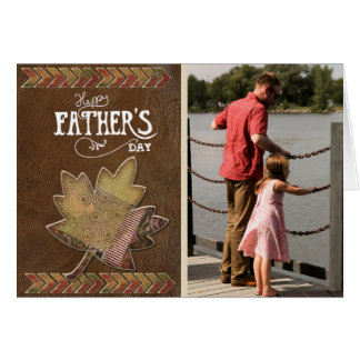 Vintage Father Daughter Photo Happy Father's Day Card