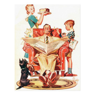 Vintage Fathers Day Postcard