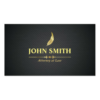 Vintage Faux Gold Plumage Professional Lawyer Business Card