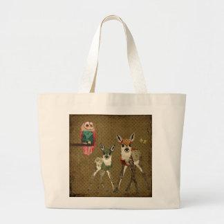 Vintage Fawns & Rosa Owl Bag